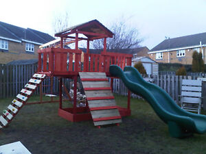 NEW-Wooden Climbing frame,monkey bars,Slid ,Swing, delivery & assembly included