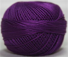 Lizbeth Cordonnet 100% Egyptian Cotton Thread Size 3 Color 647 Dark Purple Iris