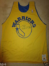Chris Mullin #17 Golden State Warriors NBA Sand-Knit Practice Team Jersey Signed