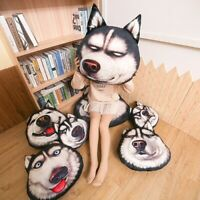 40-70cm Large 3d Cute Simulation Husky Pillow Plush Animal Doll Christmas Gift