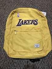 Los Angeles Lakers Settlement Backpack Herschel Supply NBA Champions NWT Yellow