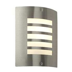 Saxby Bianco 60W E27 Stainless Steel IP44 Outdoor Wall LED Porch Light Lamp IP44