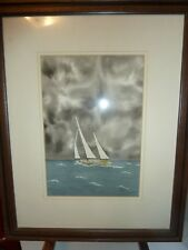 Original Watercolor Seascape Painting by Noted Maritime Artist M.W. Ranly