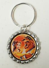 2017 Disney BEAUTY AND THE BEAST * Magic Love * Bottle Cap with Keyring