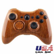 Wooden Grain Full Shell Button Kits for Xbox 360 Controller Housing