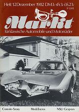Markt 12/82 1982 Kaiser Mercedes 280 SE Tornax Tornado Chevrolet Corvair Rost