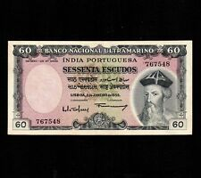 Portuguese India, 60 Escudos 1959, P-42, XF * Last Issue *