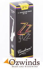 Vandoren ZZ Tenor Sax Reeds - Strength 2 1/2  (Box of 5)