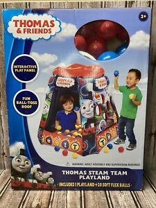 Thomas & Friends Steam Team Playland Ball Pit New in Box Inflatable w/ 20 Balls