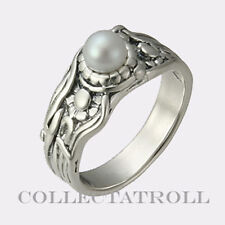 Authentic TrollBeads Silver Jugend Pearl Ring  Size 7 1/4 Trollbead 57026