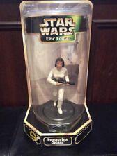 Star Wars Epic Force Princesse Leila Organa Figure 360 Rotating Base Kenner 1998