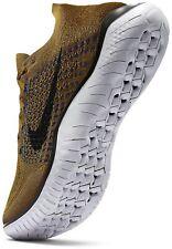 Nike Free Run Flyknit 2018 942838-302 Olive Flak Size UK 8 EU 42.5 US 9 New