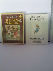 THE TAIL OF PETER RABBIT BEATRIX POTTER & THE NEW YEARS IMP ENID BLYTON MINI VGC