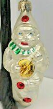 "Vintage Blown Glass Christmas Ornament - Clown - 4.5"""