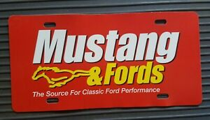 MUSTANG & FORD LICENSE PLATE TAG
