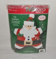 NIB 2005 Dimensions Applique FeltWorks Santa Star Pillow Kit #8142