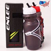 ENLEE BPA-free Plastic Bike 650ML Drink Water Bottle Cup Cage Set Flask Holder
