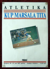 Original Poster Yugoslavia Athletic Runner Sport Sarajevo Bosnia Tito 1987