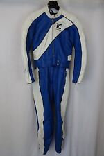 Vintage 1970's 2 Piece Leather TC Motorcycle Race Suit Size 8 W28 L27 AA1650