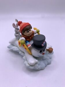 2009 Hallmark Keepsake Ornament ~ A WINTERFUN RIDE - Frosty the Snowman