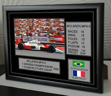 "McLaren MP4-5 Lienzo Enmarcado F1 Tributo Ferrari imprimir ""gran regalo"""