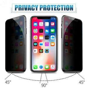 Apple iPhone 11 pro & Xs PRIVACY Tempered Glass Film Screen Protector 6D 10D 9H
