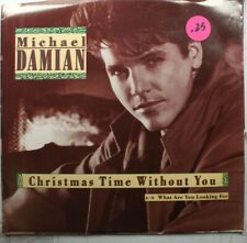 Christmas Picture Sleeve 45 Michael Damian - What Are You Looking For / Christma