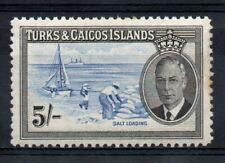 Turks & Caicos 1950 5s Blue & Black sg 232 MM