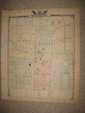 ANTIQUE 1876 SPRINGFIELD JACKSONVILLE PANA VANDALIA BUNKER HILL ILLINOIS MAP
