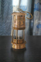 Collectible Vintage Style Brass Nautical Miner Ship Lantern Oil Lamp Maritime