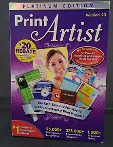 Print Artist Platinum Edition Version 23 for Windows Vista & Windows XP