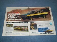 1979 Plymouth Arrow Pickup Truck Vintage 2-page Ad