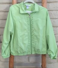 Petite Windbreaker Medium Napa Valley Sport Jacket Lime Green Zip-up