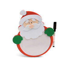 Christmas Santa Memo White Board Chart Fridge Kitchen Pen Writing Wish List Xmas