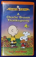 """""""A Charlie Brown Thanksgiving"""" in Clamshell Case on VHS Tape 1973"""