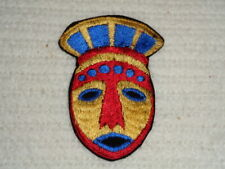 Vintage Patch Ethnic Colorful Mask Tribal Indian African Military Unknown Origin