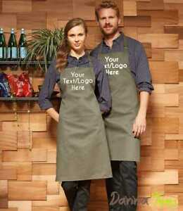Personalised Custom Printed Apron with Pocket Baking Cooking Business Logo Text