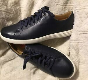 Cole Haan Grand Crosscourt Men's Sneakers Shoes Leather Navy Size 9.5 9 1/2 $150