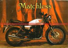 MATCHLESS 500 G80 Brochure Dépliant Advert Moto #0175