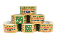 Printed Paper Kraft Tape Strong Eco Friendly Recycled Biodegradable 50mm X 25m