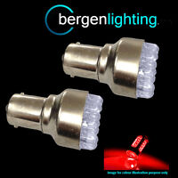 380 BAY15D 1157 XENON RED 12 DOME LED STOP TAIL BRAKE LIGHT BULBS HID ST200101