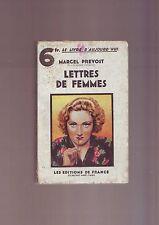 lettres de femmes par  marcel prevost - les editions de france
