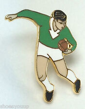 Campionato di rugby, dell' Unione, Green & White KIT CALCIATORE SMALTO bavero pin badge