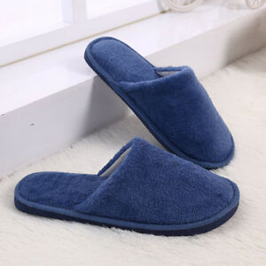 Men Women Indoor Home Mute Lovers Soft Cotton Bottom Bedroom Floor Warm Slippers