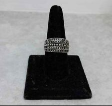 STERLING SILVER MARQUISETTE FINE JEWELRY RING SZ 9 signed