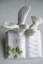 Roman Inc. Love 2 Doves Poem Bears All Things Believe s All Things Etc. Figurine