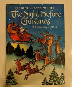 The Night Before Christmas Hallmark Pop-up Book by Clement Clarke Moore 1980s