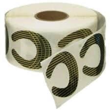 Disposable Black/Gold Nail Forms Horseshoe MEDIUM 500 Pcs / Roll