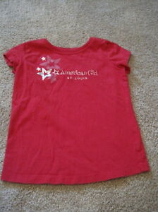 American Girl St. Louis Size 7-8 Small Red Short Sleeve Tee Shirt
