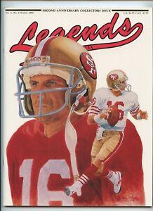 Legends Magazine 1990 Montana Cards of Henderson Ripken Brett Griffey Fisk